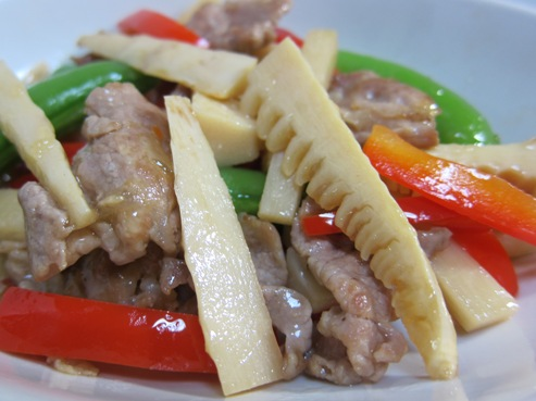筍と豚肉炒めB