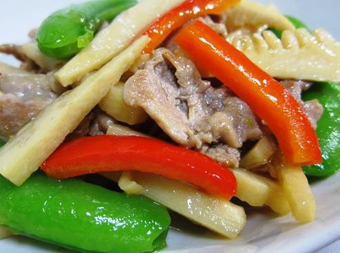 筍と豚肉炒め拡大