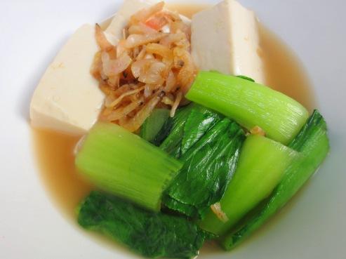 干しえびと豆腐の炊いたん大