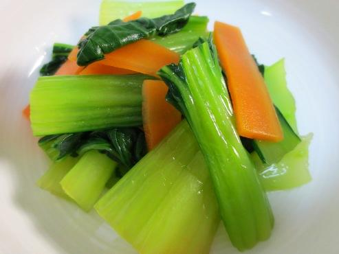 青梗菜とにんじんのさっぱり和えB