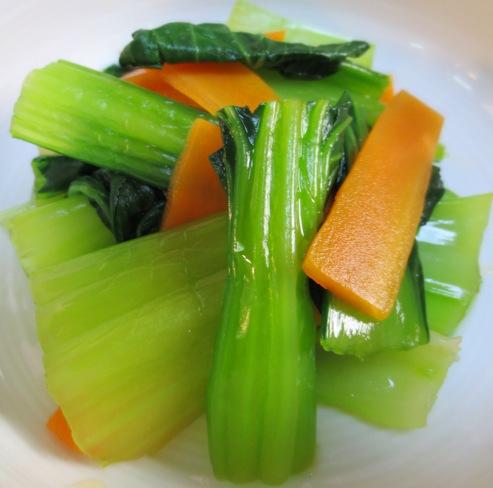 青梗菜とにんじんのさっぱり和え大