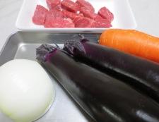 お茄子と牛肉の炊いたん 材料