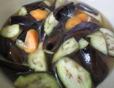 お茄子と牛肉の炊いたん 調理③