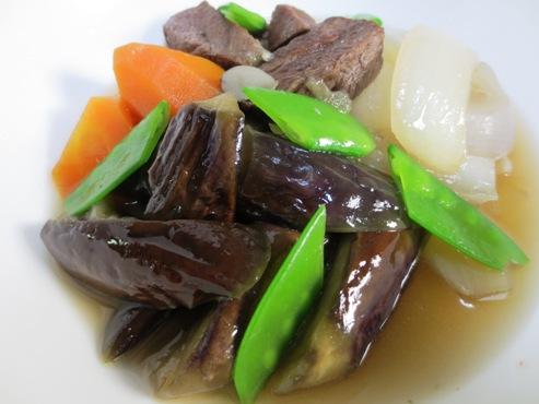 お茄子と牛肉の炊いたんB