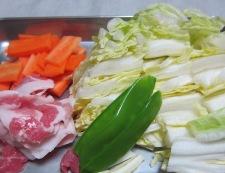 白菜炒め 材料