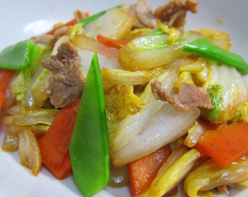 白菜炒め 大