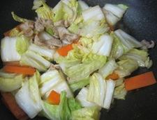 白菜炒め 調理②