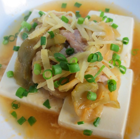 豆腐と豚肉のザーサイ蒸し大