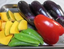 茄子の香味甘酢ソース 野菜材料