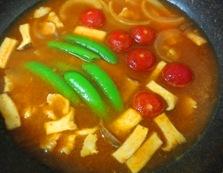 キムチつけ素麺 調理②