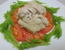 鶏胸肉の冷製 調理③