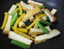豚肉と厚揚げの花椒炒め 調理③