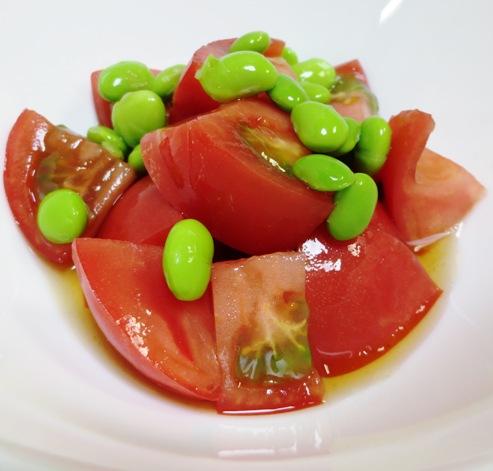 トマトと枝豆の酢の物 大