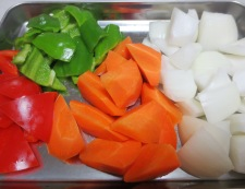 ささみのカルピス酢鶏 【下準備】野菜