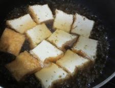 厚揚げといんげんの炊いたん調理①