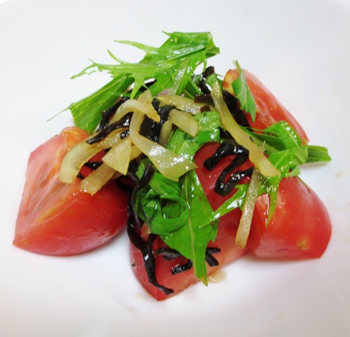 トマトの塩昆布新生姜和え B