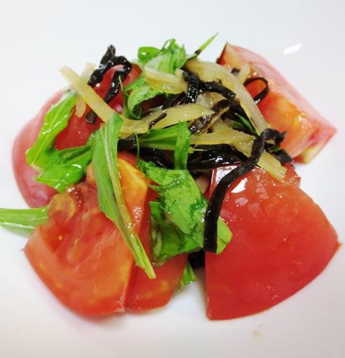 トマトの塩昆布新生姜和え大