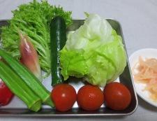 麺つゆ野菜冷麺 材料