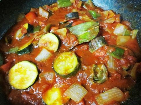 夏野菜ラタ調理