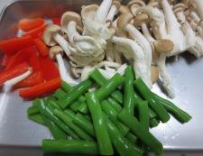 イカといんげんの塩炒め 【下準備】野菜