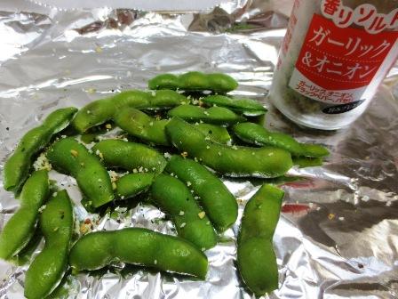 焼き枝豆 調理