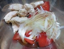 トマトとささみのピリ辛サラダ 調理③