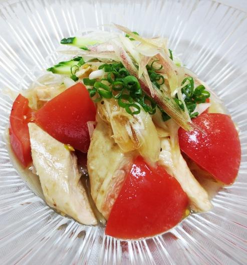 トマトとささみのピリ辛サラダ 大