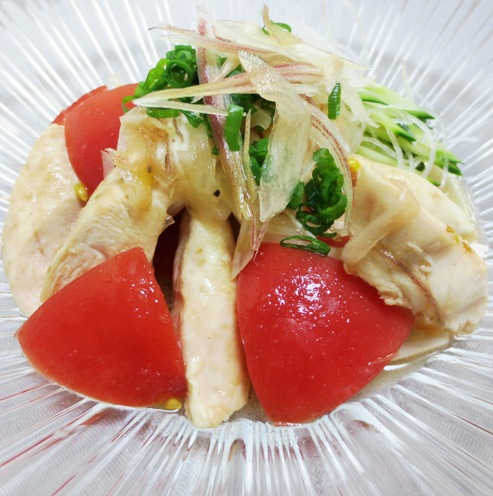 トマトとささみのピリ辛サラダ B