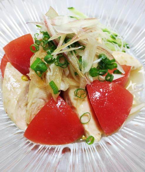 トマトとささみのピリ辛サラダ 拡大