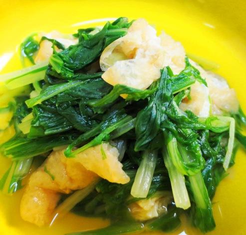 水菜とお揚げの炊いたくB