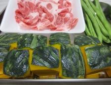 かぼちゃといんげんの炊いたん 材料野菜