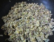 中華風ひき肉炒り卵 調理④