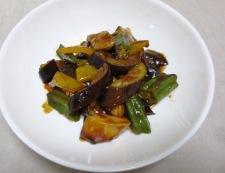 ささみと茄子の甘味噌炒め 調理④