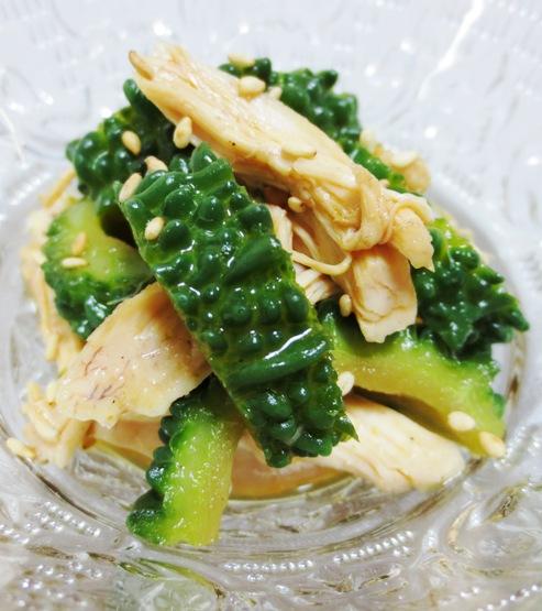 ゴーヤとささみの中華サラダ B