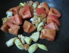 トマトと卵のふわふわ炒め 調理④