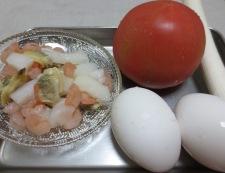 トマトと卵のふわふわ炒め 材料