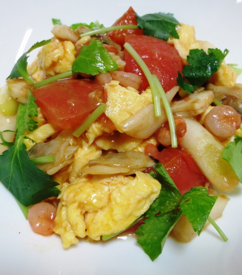 トマトと卵のふわふわ炒め B