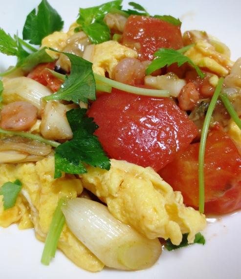 トマトと卵のふわふわ炒め 拡大