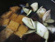 厚揚げと茄子の炊いたん 調理