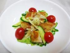 鶏もも肉と夏野菜の香味和え 調理④