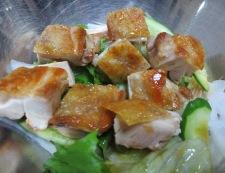 鶏もも肉と夏野菜の香味和え 調理③