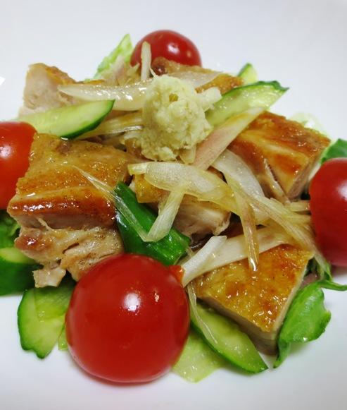 鶏もも肉と夏野菜の香味和え 大