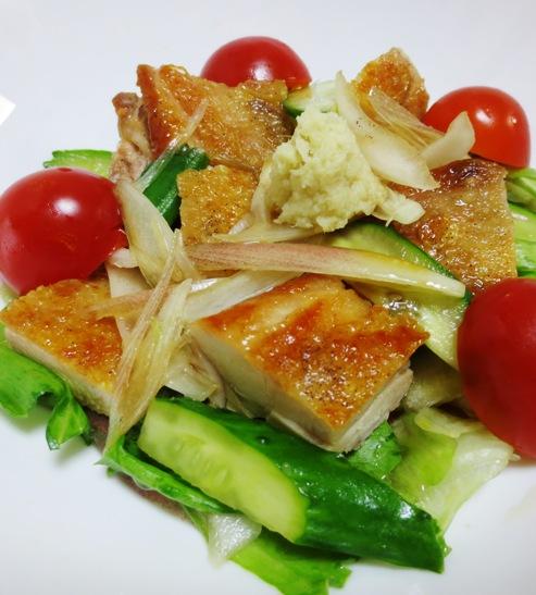 鶏もも肉と夏野菜の香味和え 拡大