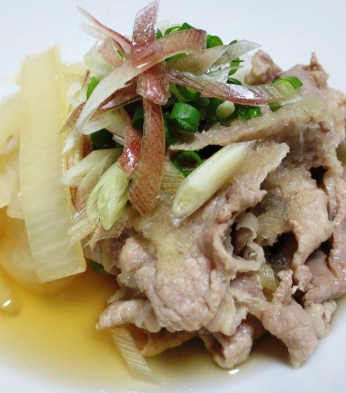豚肉と玉ねぎのみょうが煮 大