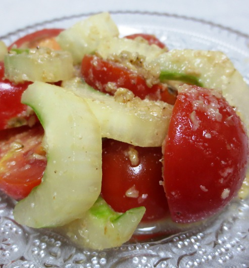 プチトマトとセロリの胡麻酢和え 大