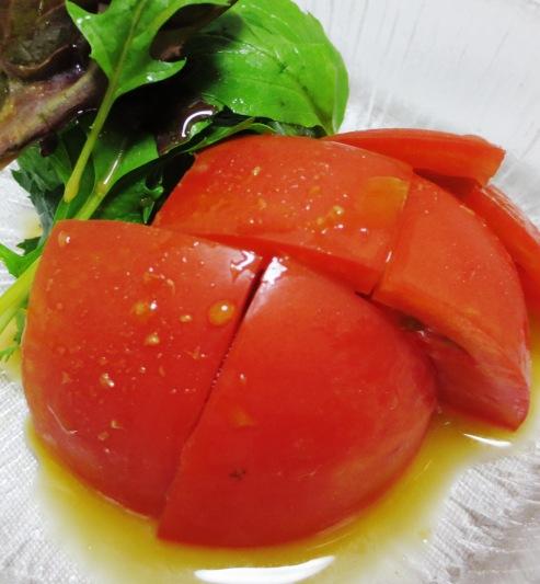 トマトとわさびポン酢サラダ 大