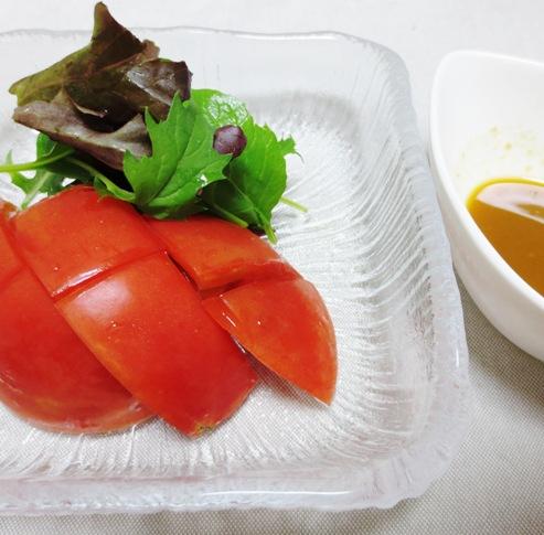 トマトのわさびポン酢サラダ大