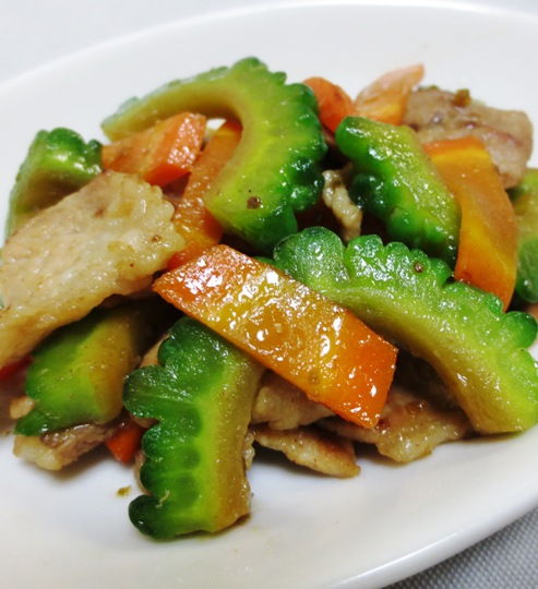 ゴーヤの麺つゆ柚子胡椒炒め 大