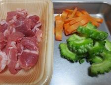 ゴーヤの柚子胡椒炒め 材料