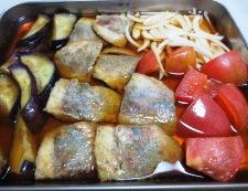 茄子とトマト南蛮漬け 調理③